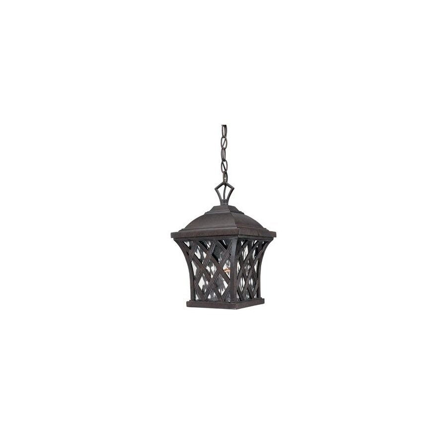 Thomas Lighting Lattice 13-in H Burnished Umber Outdoor Pendant Light