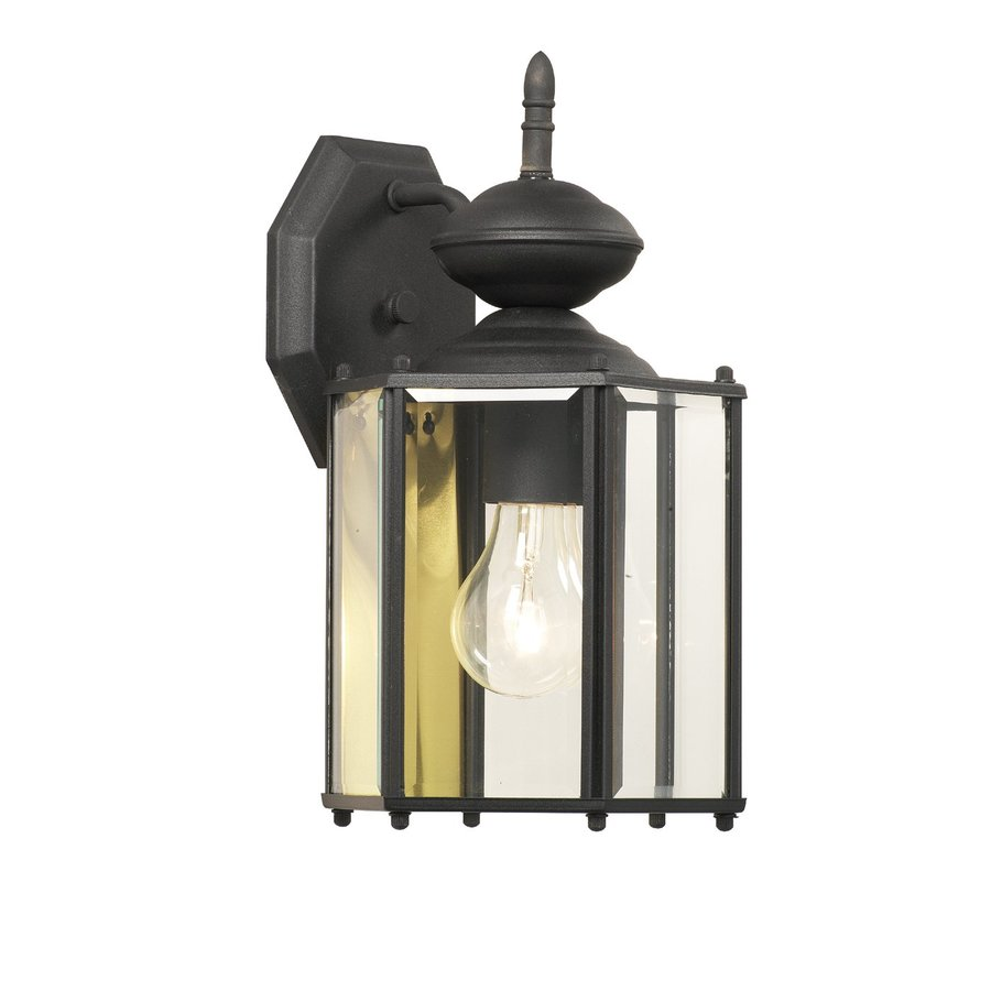Thomas Lighting Brentwood 13.25-in H Black Outdoor Wall Light