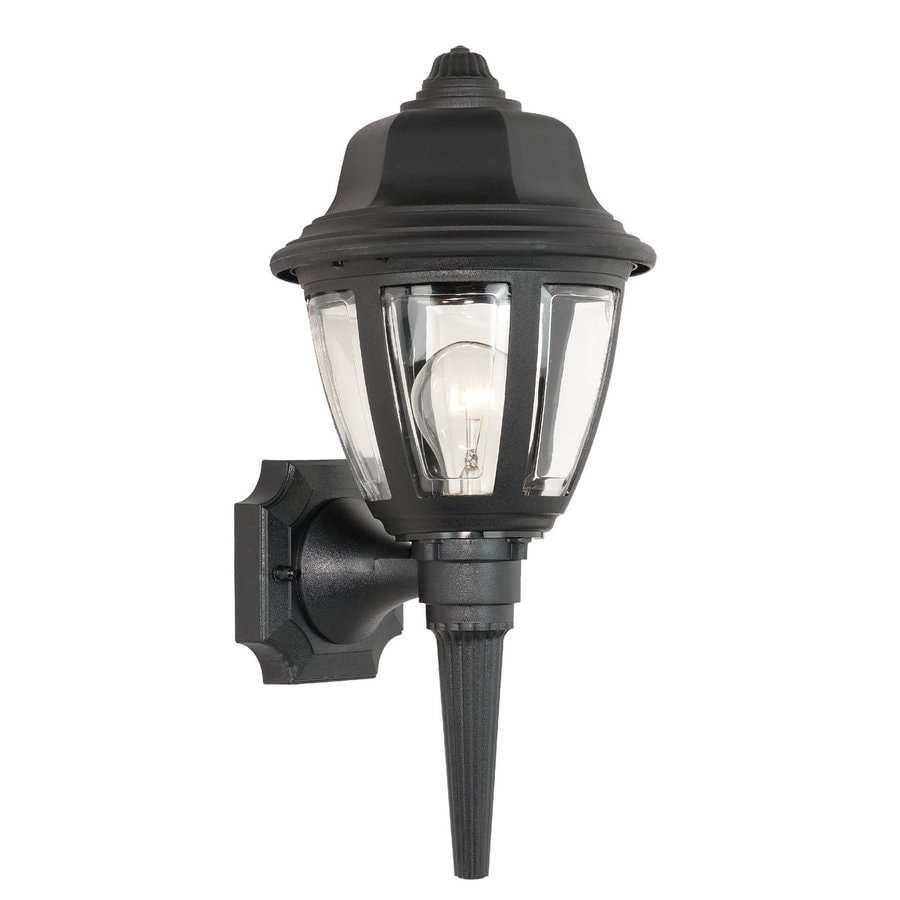 Thomas Lighting 17.5-in H Black Outdoor Wall Light
