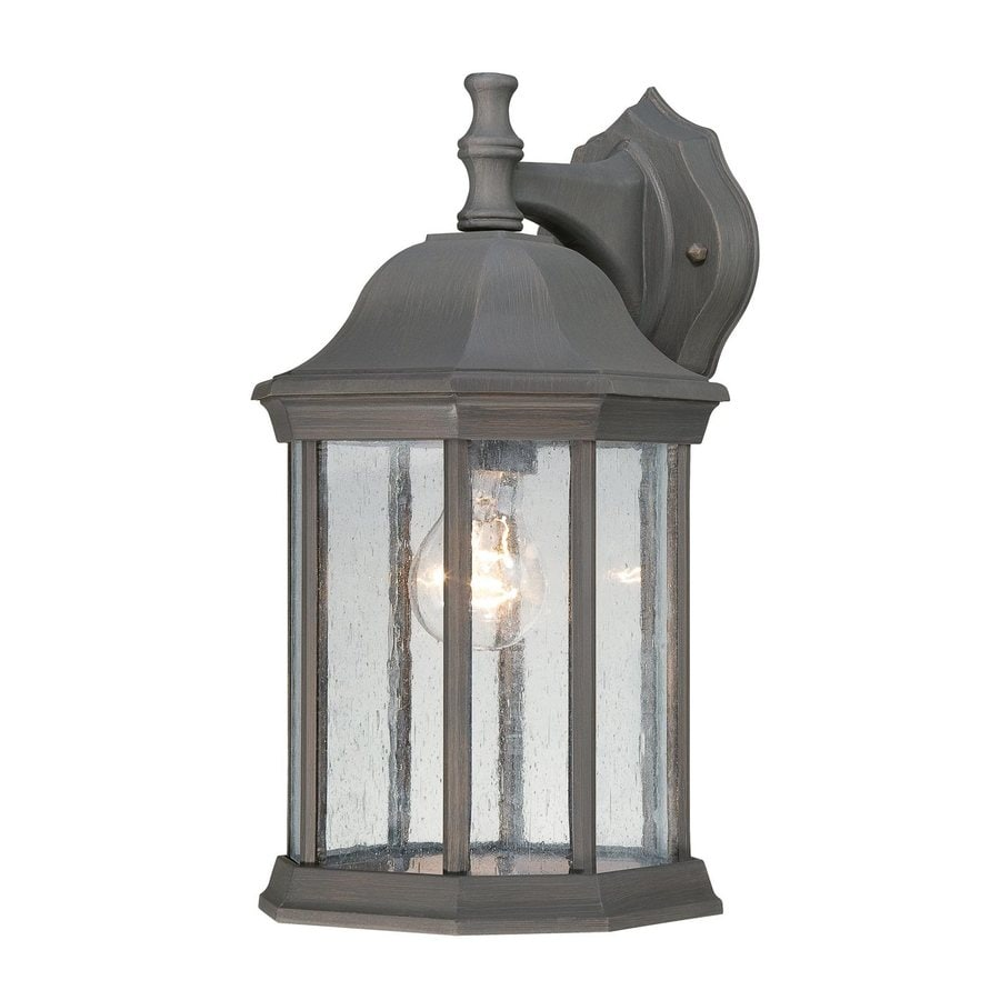 Shop Thomas Lighting Hawthorne 14-in H Painted Bronze Outdoor Wall Light at Lowes.com
