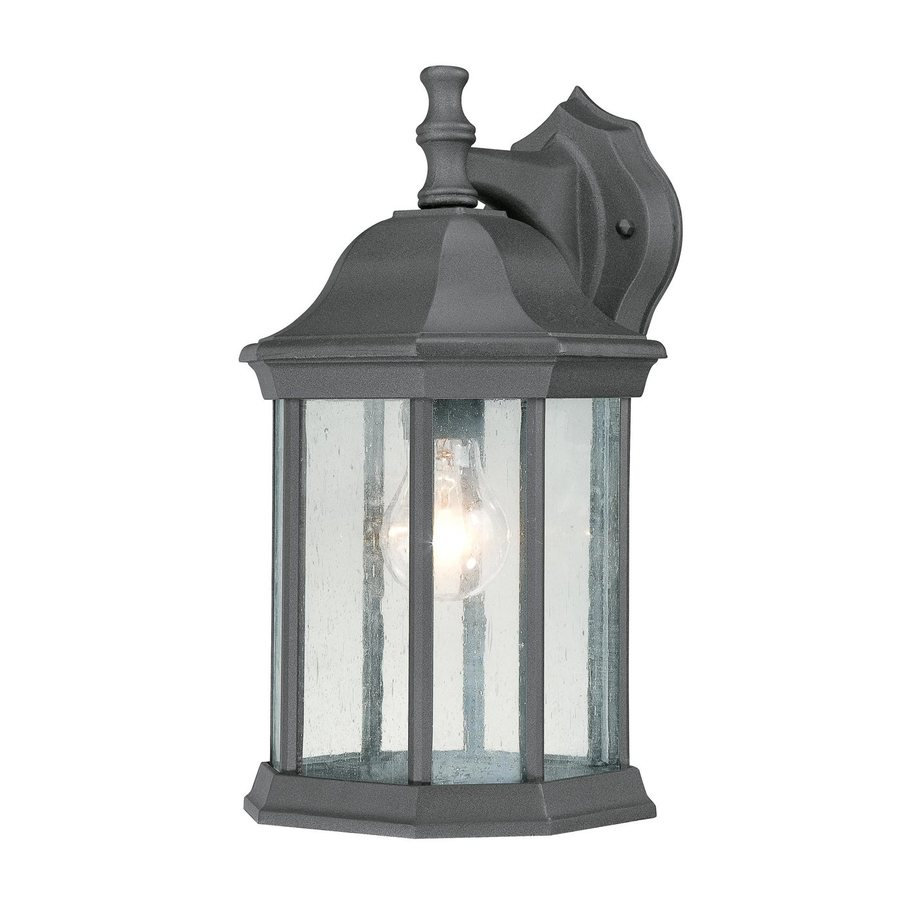 Thomas Lighting Hawthorne 14-in H Black Outdoor Wall Light