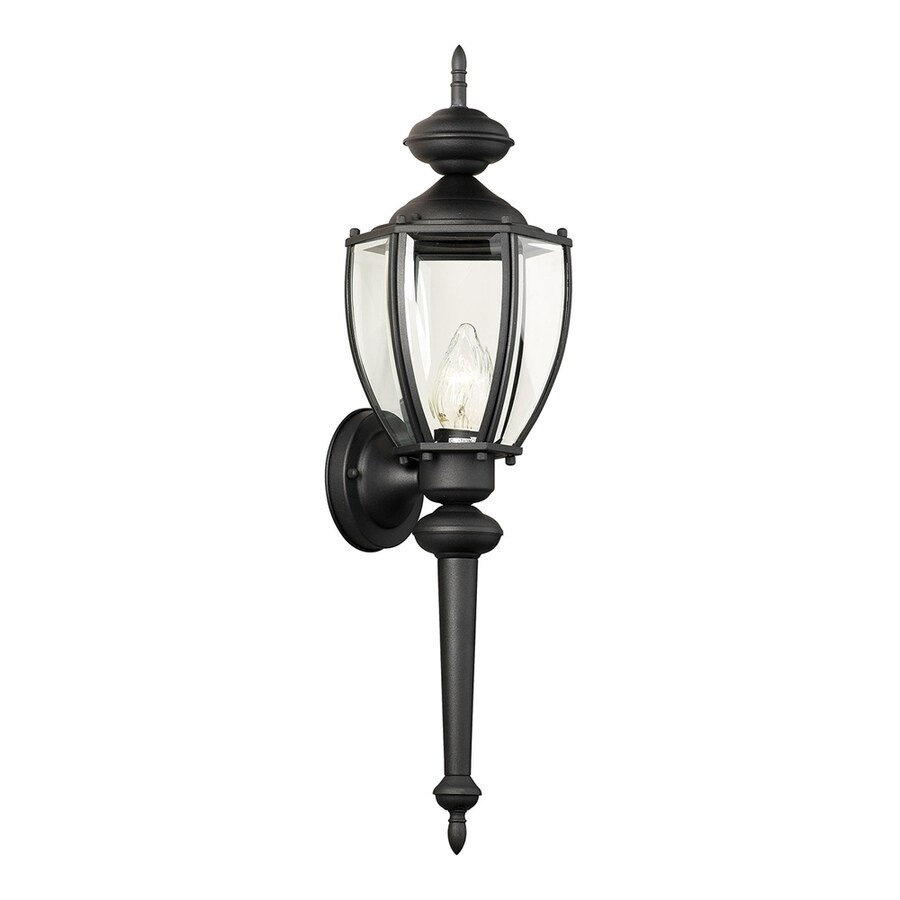 Thomas Lighting Park Avenue 24-in H Black Outdoor Wall Light