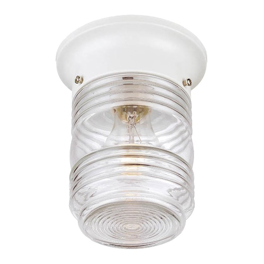 Acclaim Lighting Builder's Choice 4.5-in W White Outdoor Flush Mount Light