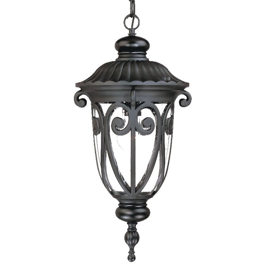 Acclaim Lighting Naples 20.5-in H Black Outdoor Pendant Light