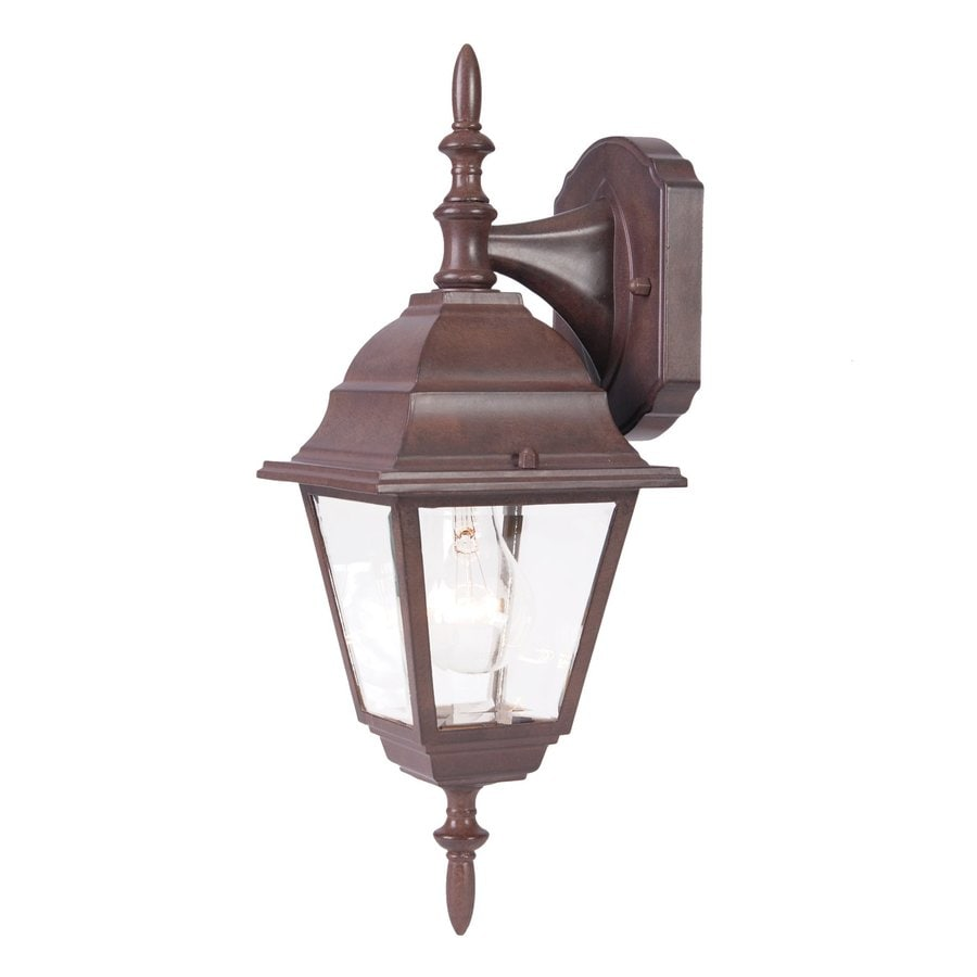Acclaim Lighting Builders Choice 16.25-in H Burled Walnut Outdoor Wall Light