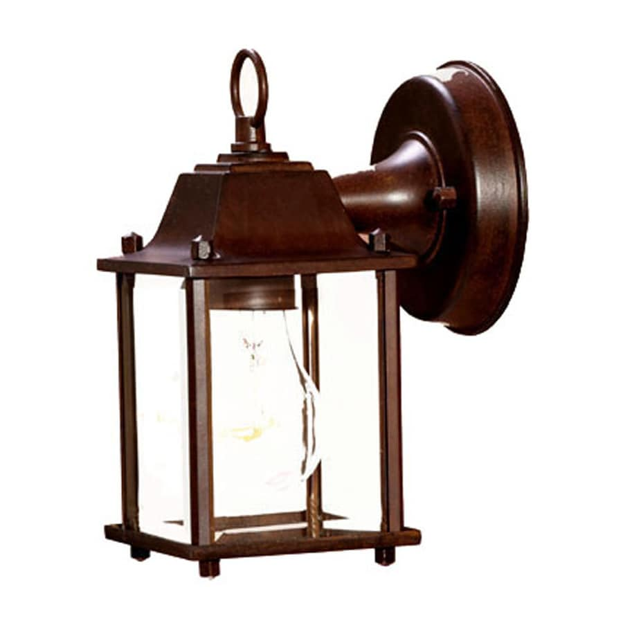 Acclaim Lighting Builders Choice 8-in H Burled Walnut Outdoor Wall Light