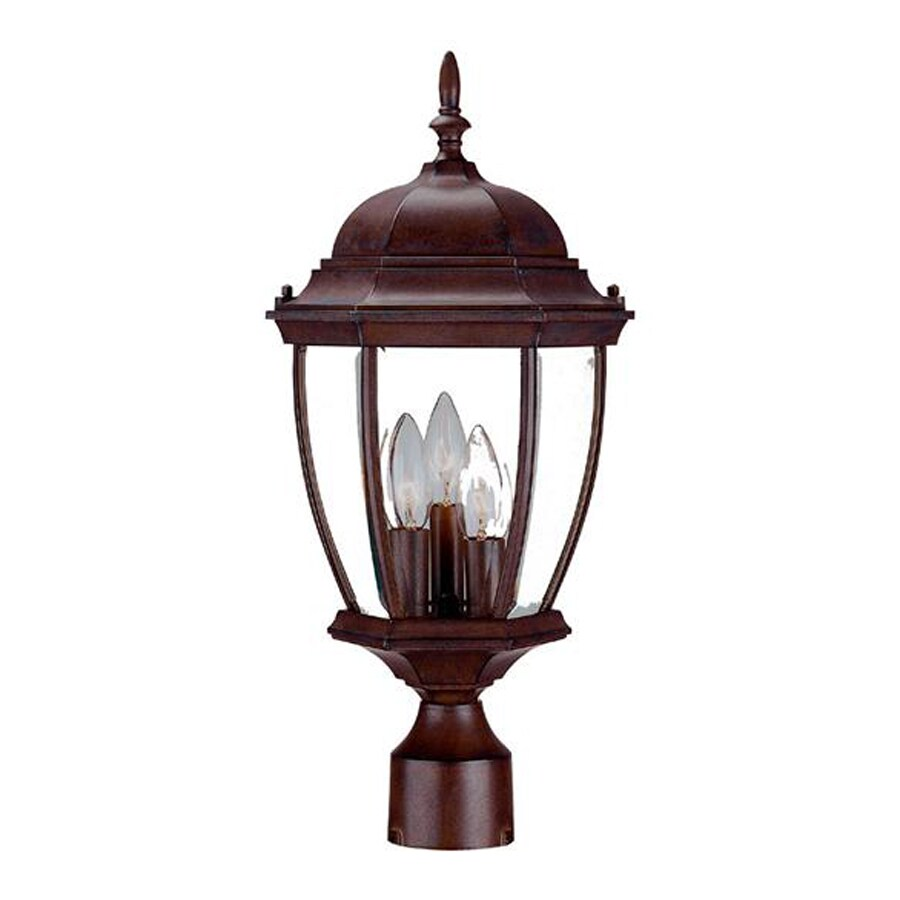 Acclaim Lighting Wexford 20-in H Burled Walnut Post Light
