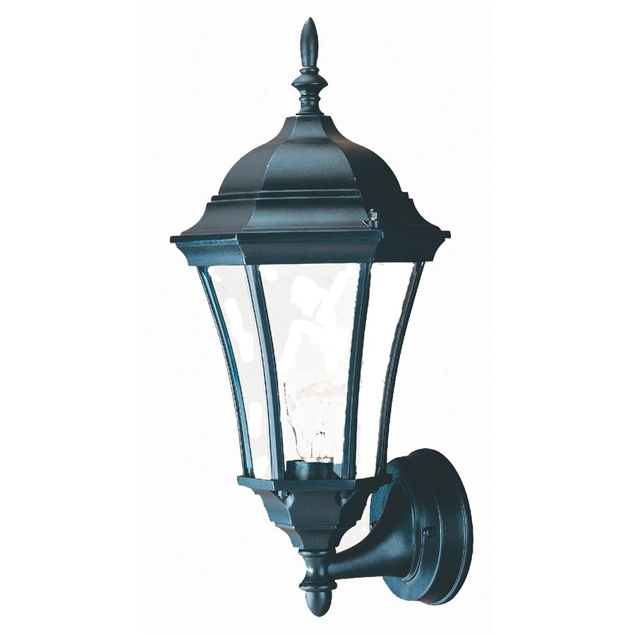 Shop Acclaim Lighting Brynmawr 17 In H Matte Black Outdoor Wall Light At Lowe
