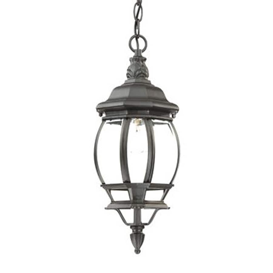 Acclaim Lighting Chateau 17-in H Black Outdoor Pendant Light