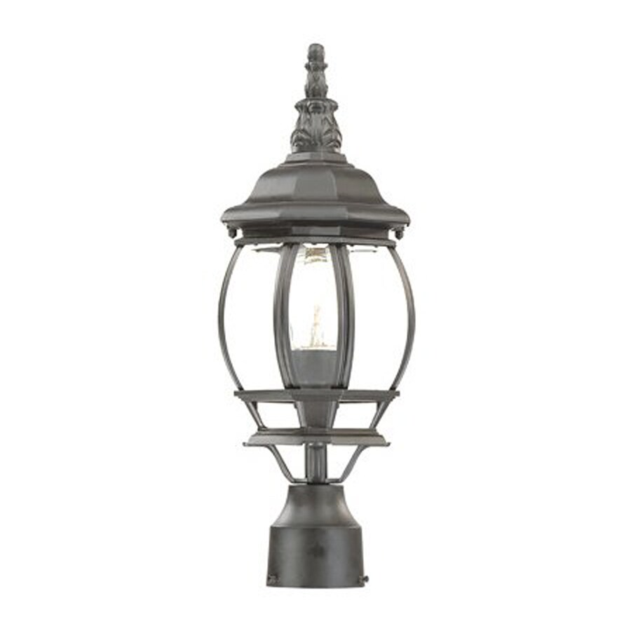 Acclaim Lighting Chateau 18-in H Matte Black Post Light