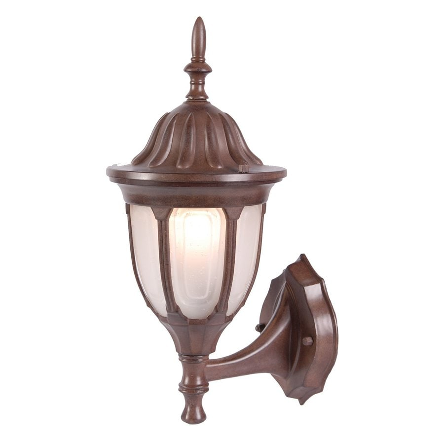 Acclaim Lighting Suffolk 15-in H Burled Walnut Outdoor Wall Light