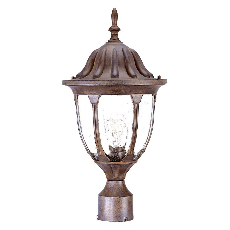 Acclaim Lighting Suffolk 19-in H Burled Walnut Post Light