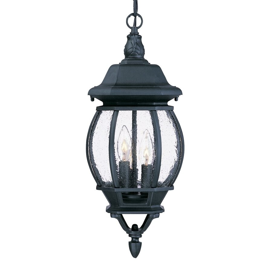 Acclaim Lighting Chateau 19.5-in H Black Outdoor Pendant Light