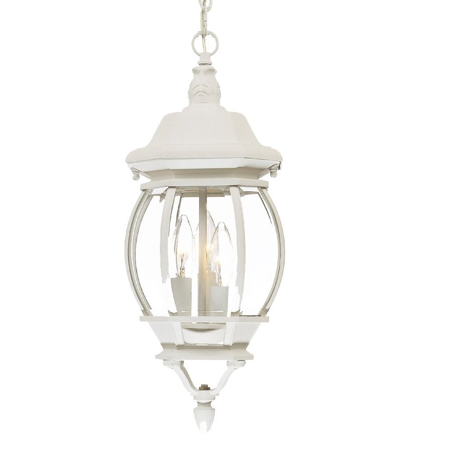 Acclaim Lighting Chateau 19.5-in H White Outdoor Pendant Light