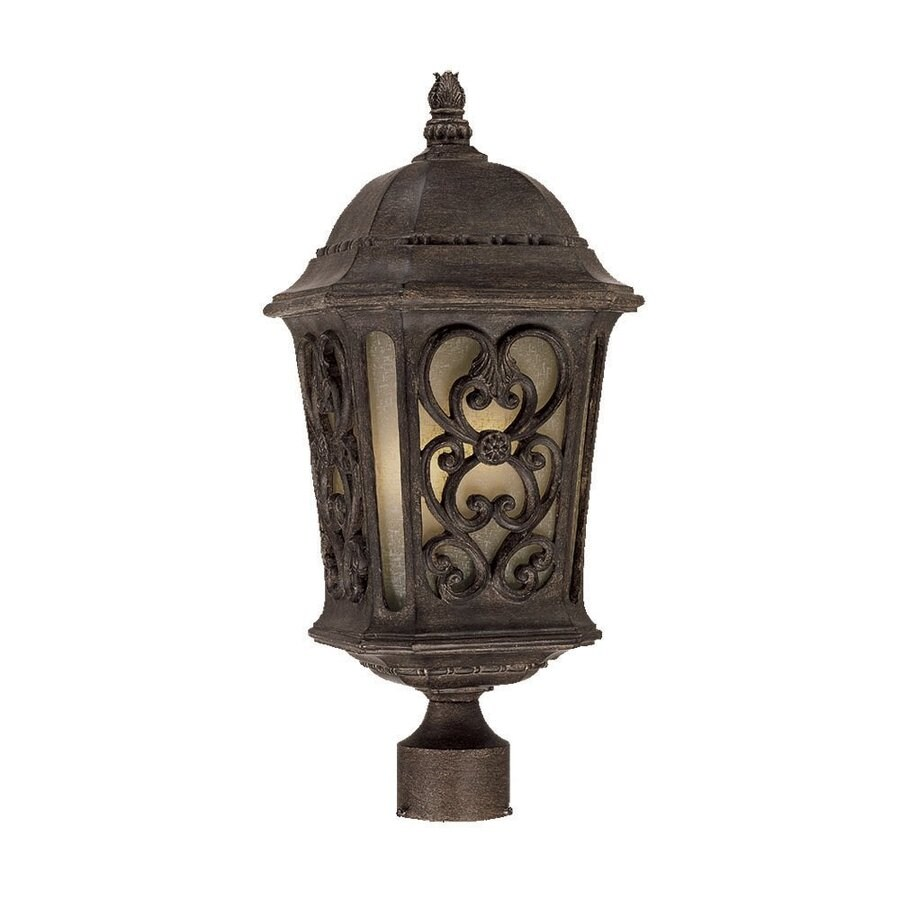Acclaim Lighting Manorgate 22.5-in H Black Coral Post Light