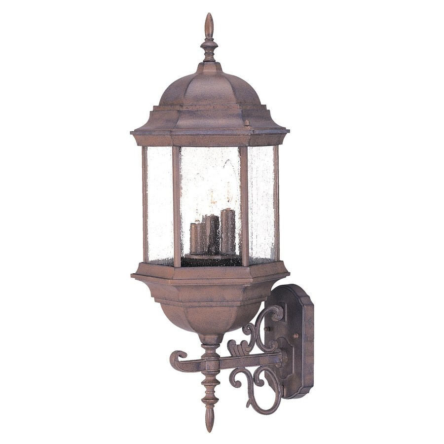Acclaim Lighting Madison 24.75-in H Burled Walnut Outdoor Wall Light