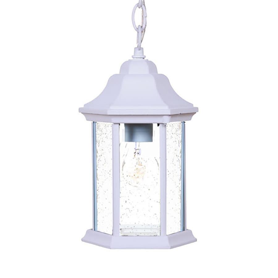 Acclaim Lighting Madison 12-in H White Outdoor Pendant Light