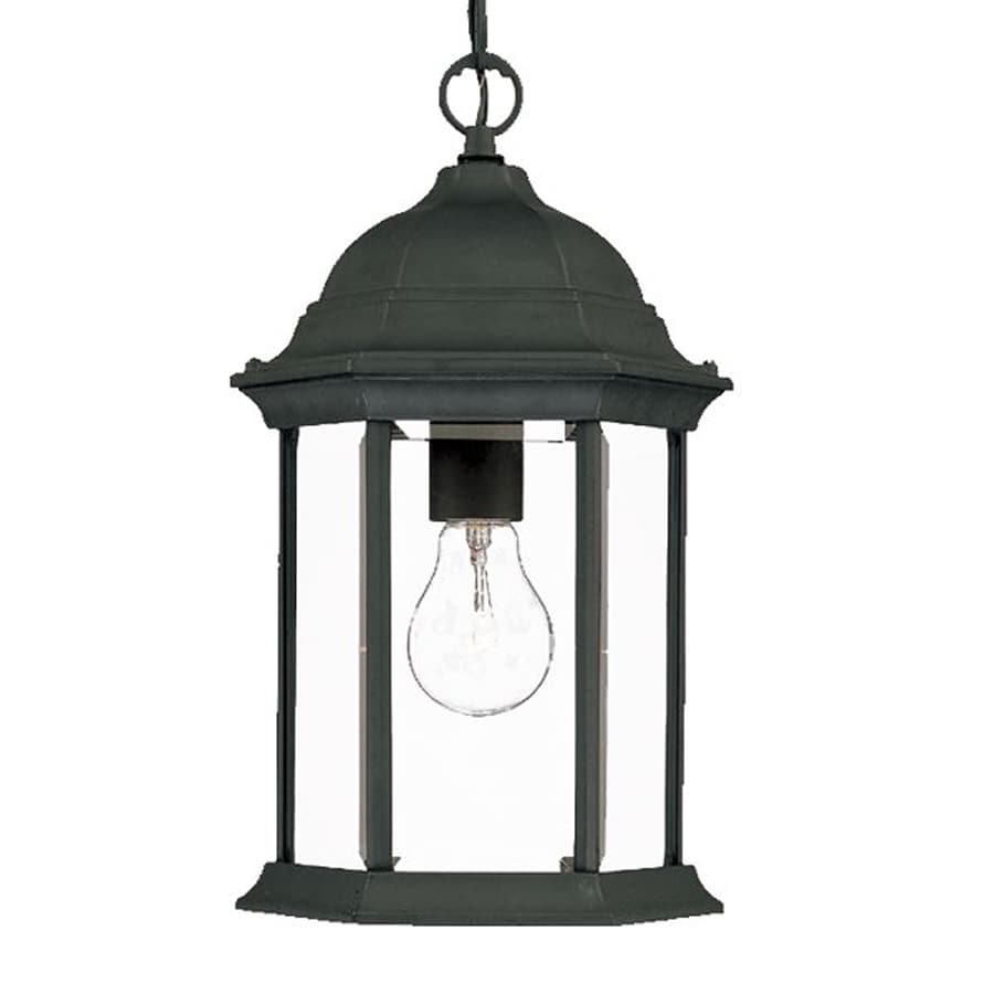 Acclaim Lighting Madison 14-in H Black Outdoor Pendant Light