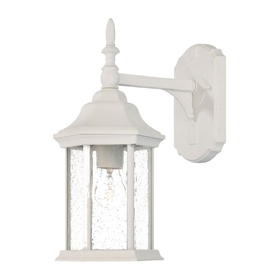 Acclaim Lighting Craftsman 14-in H Textured White Outdoor Wall Light