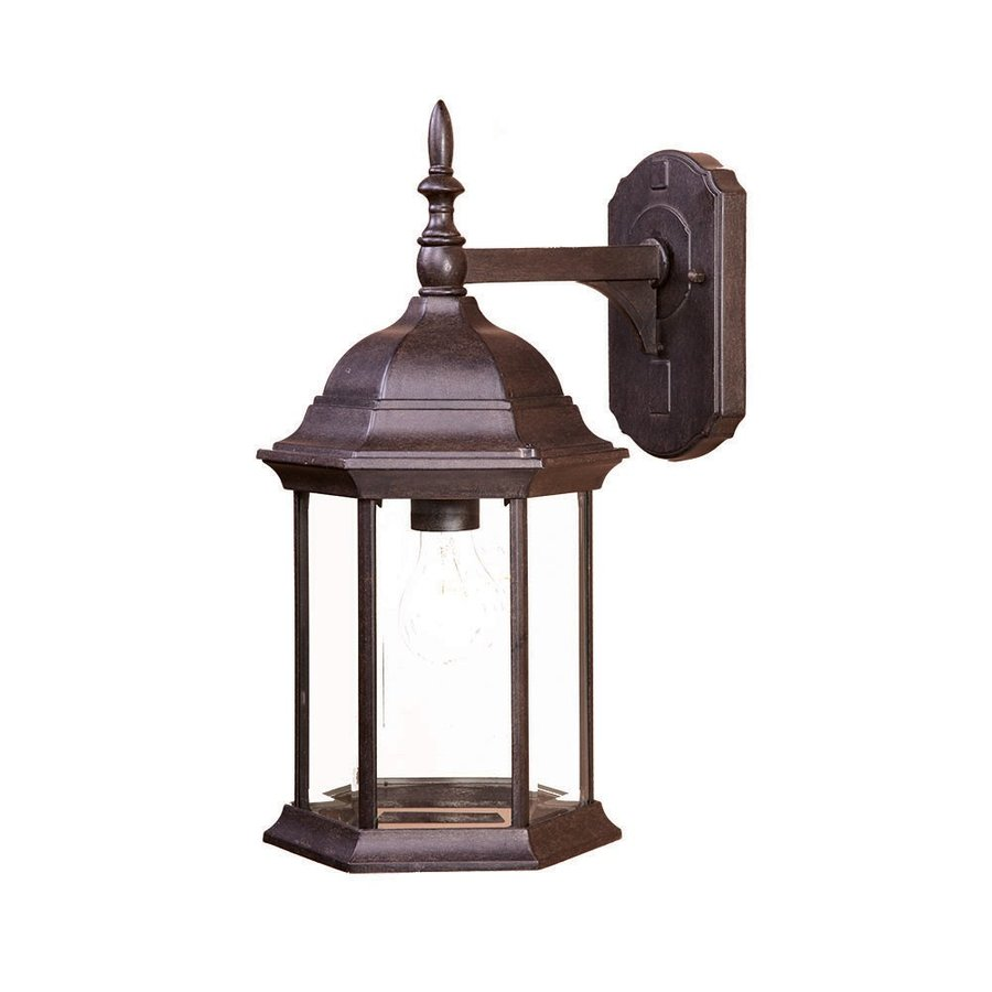 Shop Acclaim Lighting Craftsman 16.5-in H Black Coral Outdoor Wall Light at Lowes.com