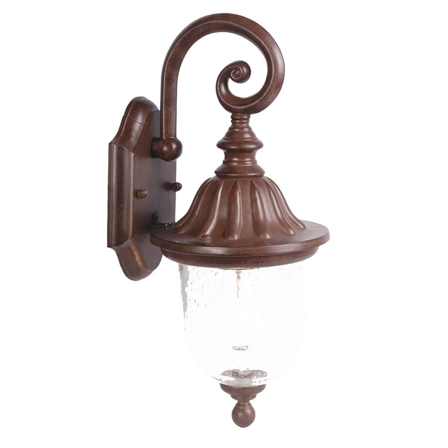 Acclaim Lighting BuilderS Choice 15-in H Burled Walnut Outdoor Wall Light
