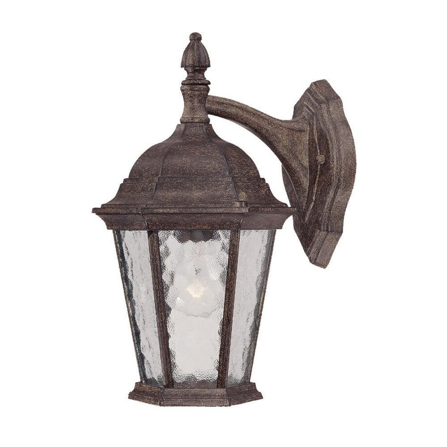 Acclaim Lighting Telfair 14.5-in H Black Coral Outdoor Wall Light