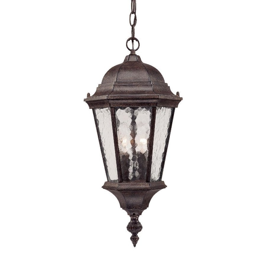 Outdoor Hanging Lanterns Lowes: Shop Acclaim Lighting Telfair 20-in H Black Outdoor