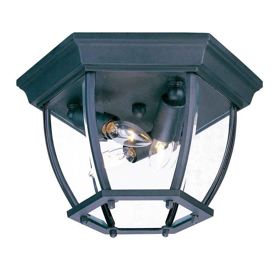Shop Acclaim Lighting 11 In W Matte Black Outdoor Flush Mount Light At