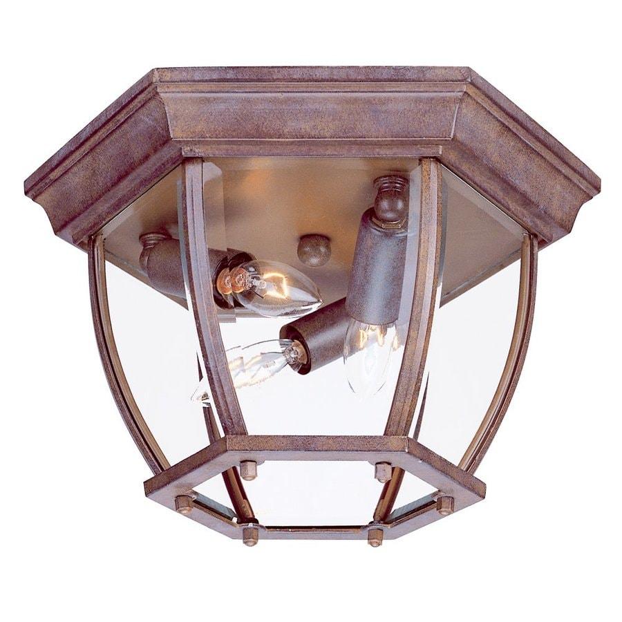 Acclaim Lighting 11-in W Burled Walnut Outdoor Flush Mount Light