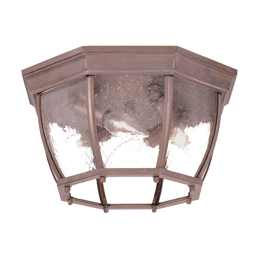 Acclaim Lighting 13-in W Burled Walnut Outdoor Flush Mount Light