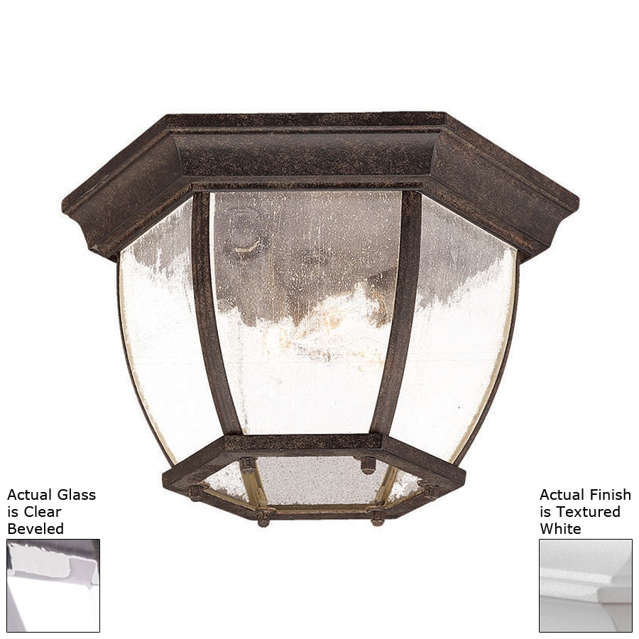 Acclaim Lighting 13-in W Textured White Outdoor Flush Mount Light