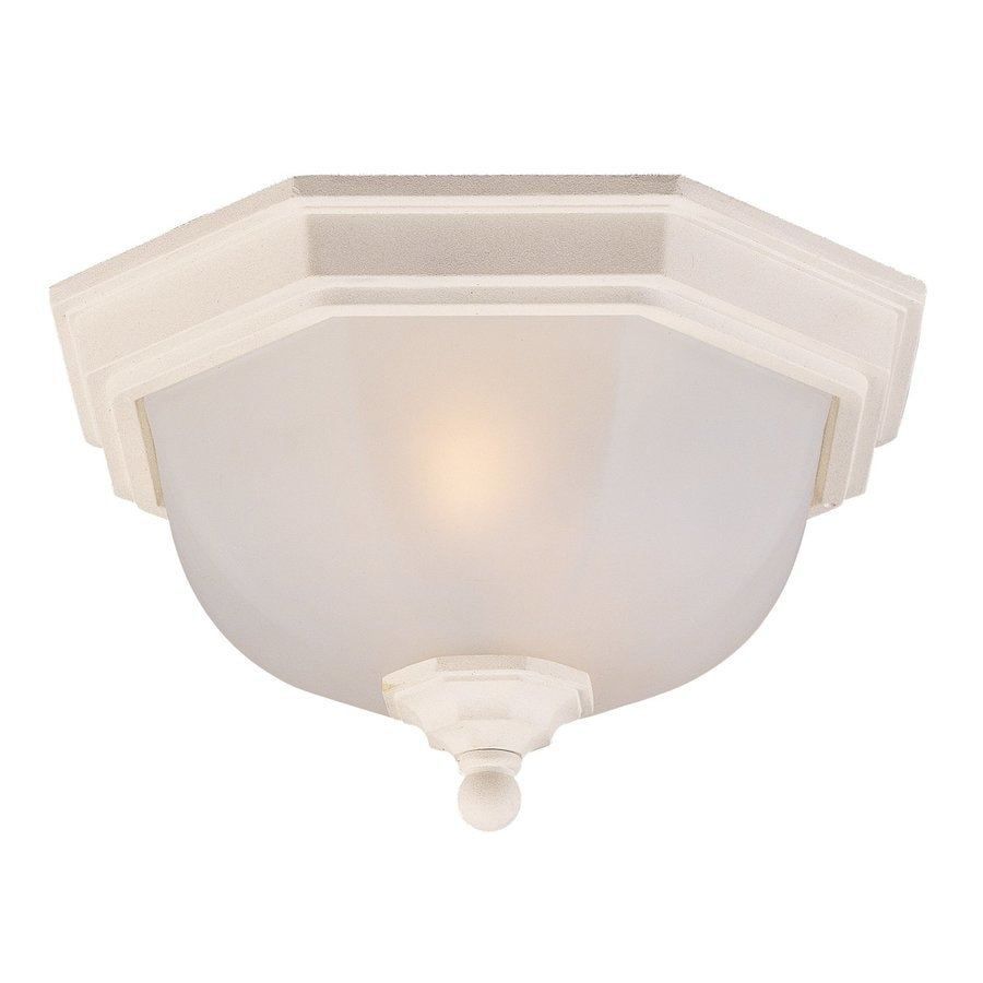 Acclaim Lighting 11.5-in W Textured White Outdoor Flush-Mount Light