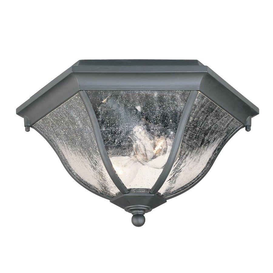 Acclaim Lighting 14.5-in W Matte Black Outdoor Flush-Mount Light