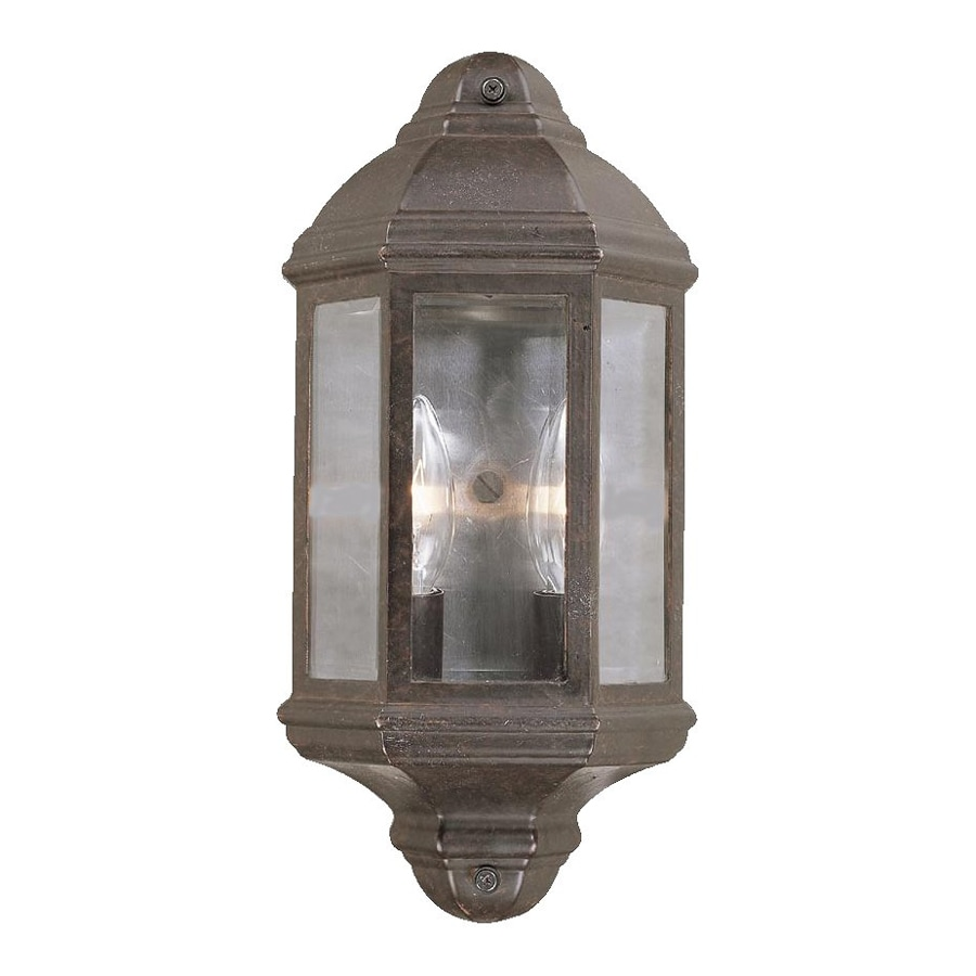 Acclaim Lighting 14.5-in H Marbleized Mahogany Outdoor Wall Light