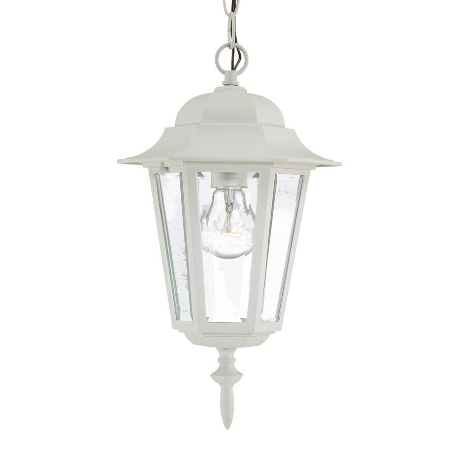 Acclaim Lighting Camelot 15.25-in H White Outdoor Pendant Light