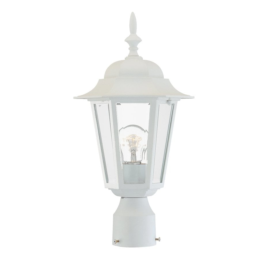 Acclaim Lighting Camelot 17.25-in H Textured White Post Light