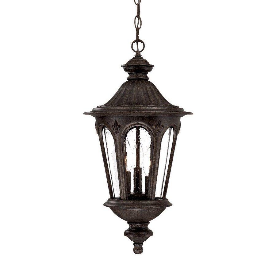 Acclaim Lighting Marietta 21.5-in H Black Outdoor Pendant Light