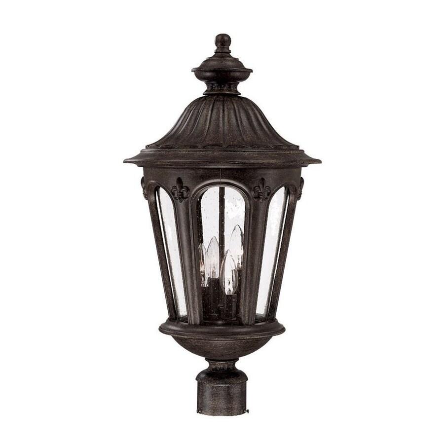 Acclaim Lighting Marietta 25.75-in H Black Coral Post Light