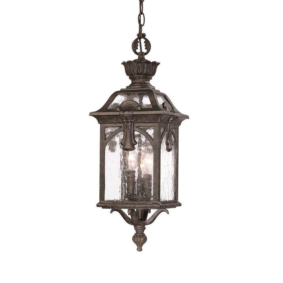 Acclaim Lighting Belmont 23-in H Black Outdoor Pendant Light