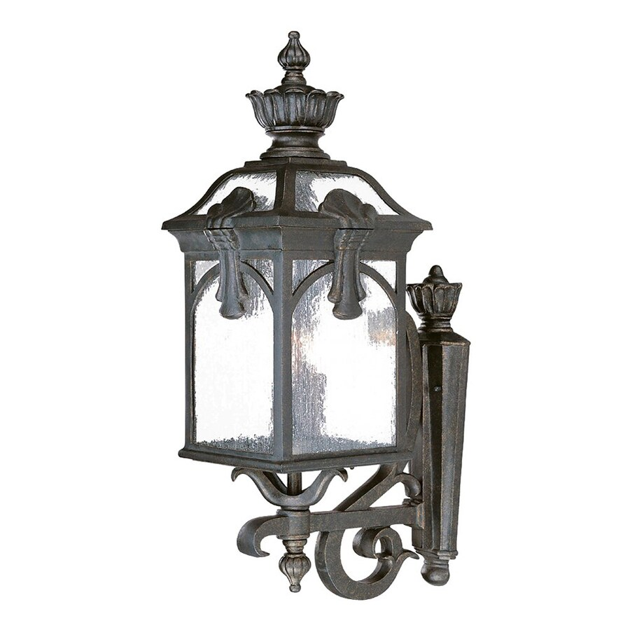Acclaim Lighting Belmont 28.5-in H Black Gold Outdoor Wall Light