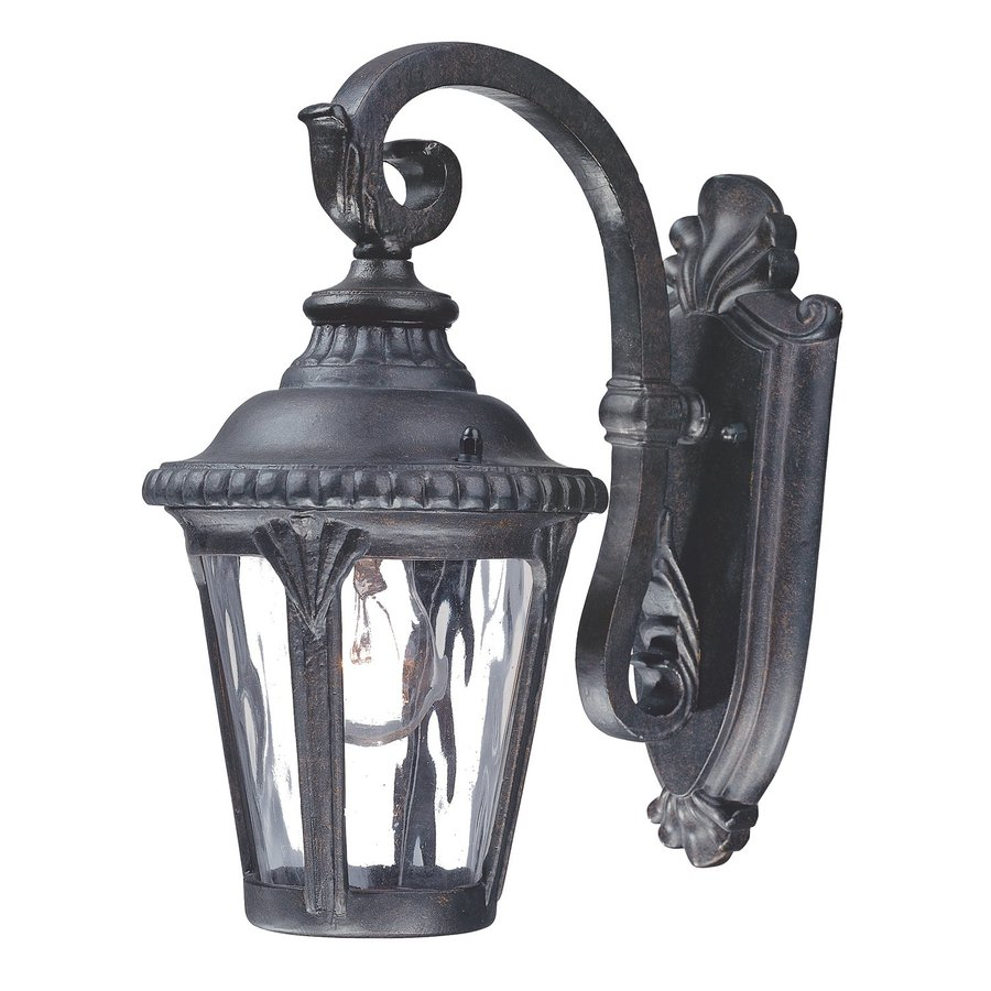 Acclaim Lighting Surrey 12.25-in H Black Gold Outdoor Wall Light