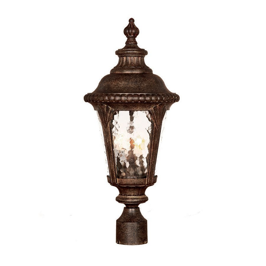 Acclaim Lighting Surrey 23-in H Black Coral Post Light