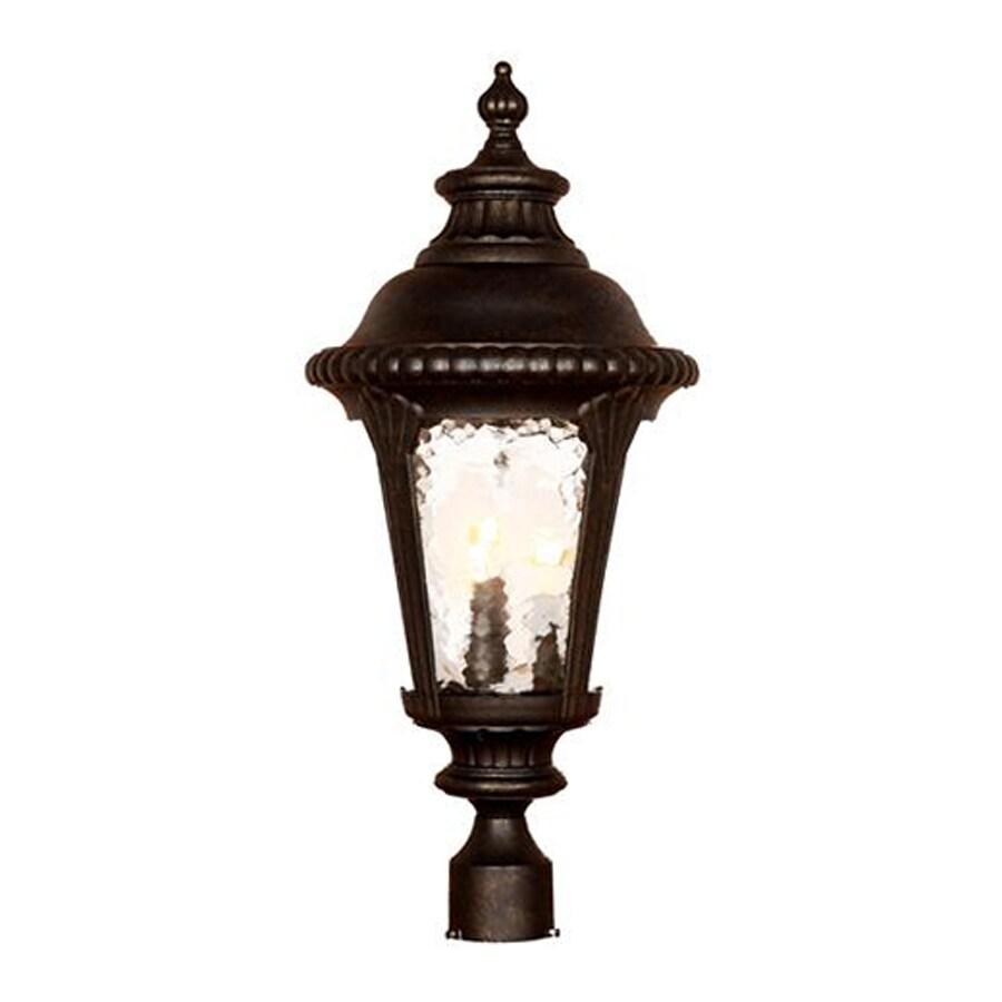 Acclaim Lighting Surrey 26.5-in H Black Gold Post Light