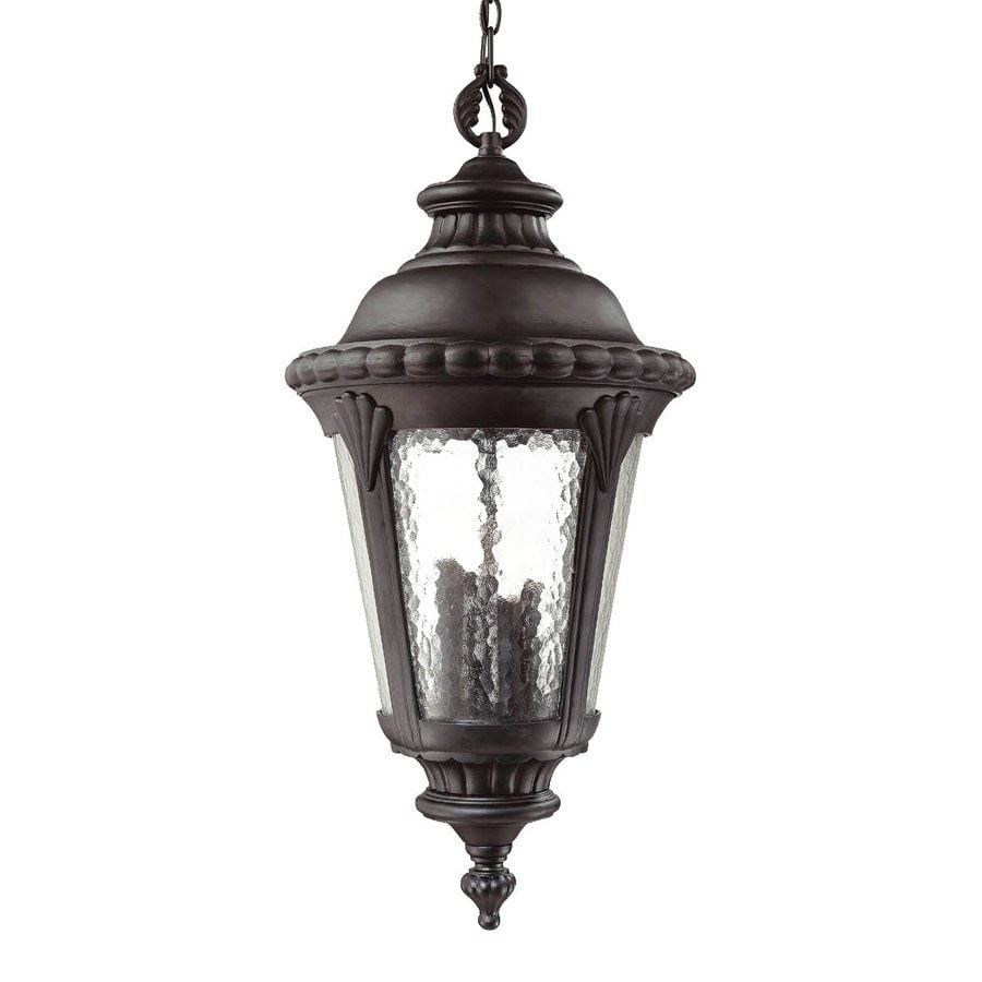 Acclaim Lighting Surrey 33-1/2-in Matte Black Outdoor Pendant Light