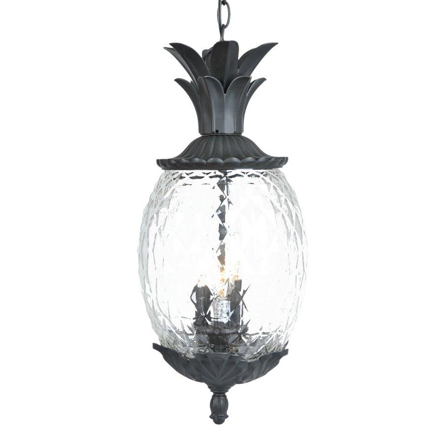 Acclaim Lighting Lanai 21-in Matte Black Hardwired Outdoor Pendant Light