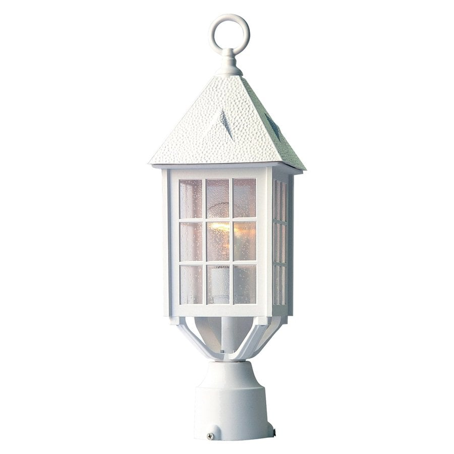 Acclaim Lighting Outer Banks 20-in H Textured White Post Light