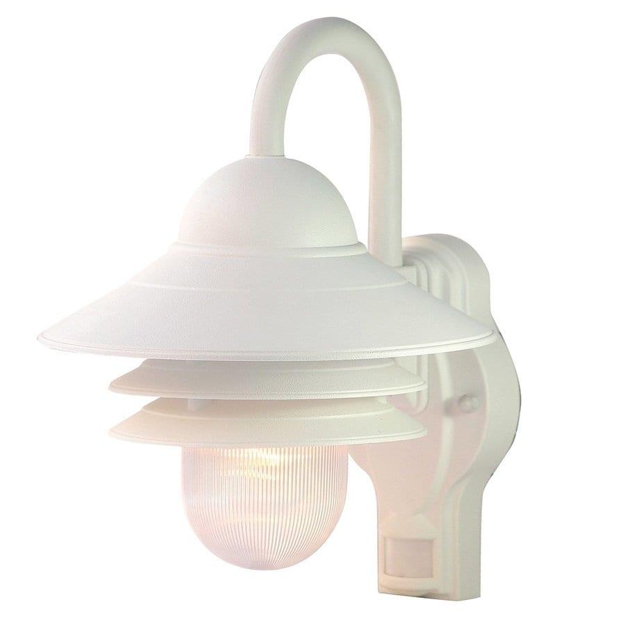 Garage Lights Lowes: Shop Acclaim Lighting Mariner 13.5-in H Textured White