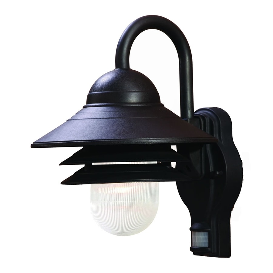 Acclaim Lighting Mariner 13.5-in H Matte Black Motion Activated Outdoor Wall Light