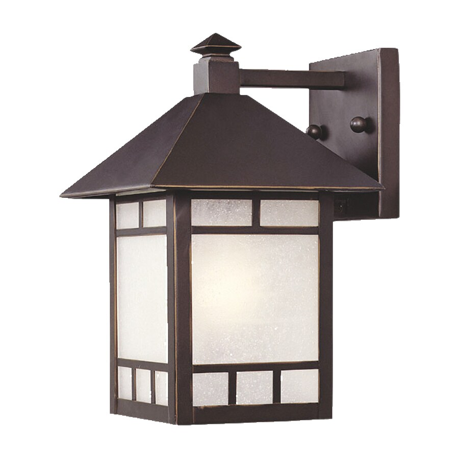 Exterior Wall Sconce Mounting Height : Shop Acclaim Lighting Artisan 10.5-in H Architectural Bronze Outdoor Wall Light at Lowes.com