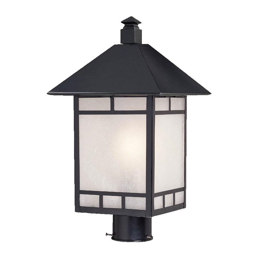 Acclaim Lighting Artisan 18.5-in H Matte Black Post Light